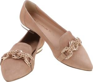 Brązowe baleriny Lafemmeshoes w stylu klasycznym