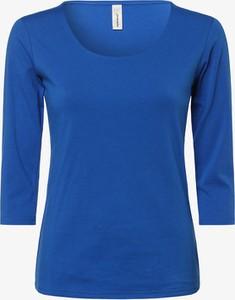Niebieski t-shirt Soyaconcept z bawełny