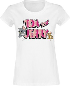 T-shirt Emp z krótkim rękawem w młodzieżowym stylu z okrągłym dekoltem