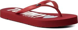 Japonki tommy hilfiger - jeans love tj beach sandal en0en00316 tango red 611