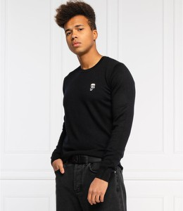 Czarny sweter Karl Lagerfeld