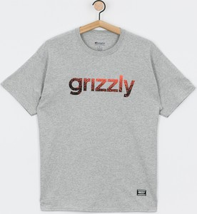T-shirt Grizzly Griptape z żakardu z krótkim rękawem