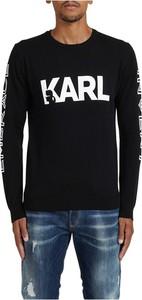 Czarny sweter Karl Lagerfeld w młodzieżowym stylu