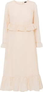 Sukienka bonprix z okrągłym dekoltem z długim rękawem