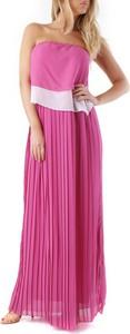 Różowa sukienka Cristina Gavioli bez rękawów