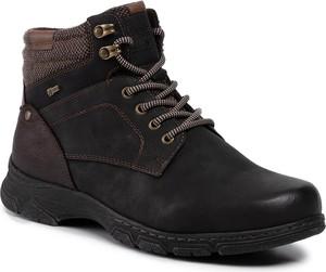 Brązowe buty zimowe Go Soft sznurowane