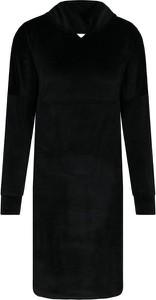 Czarna sukienka Emporio Armani w stylu casual z dekoltem w kształcie litery v mini