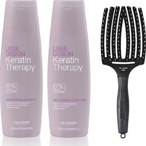 Alfaparf Milano Alfaparf Keratin Therapy Maintenance and Finger Brush | Zestaw do wygładzenia i rozczesywania włosów: szampon 250ml, odżywka 250ml + szczotka rozmiar L - Wysyłka w 24H!