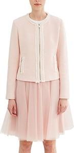 Różowa kurtka amazon.de krótka w stylu casual