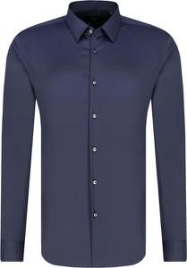 Niebieska koszula Boss z długim rękawem