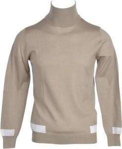 Brązowy sweter Paolo Pecora Milano z wełny
