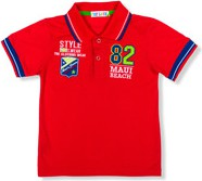 Czerwona koszulka dziecięca Ombre Clothing z bawełny