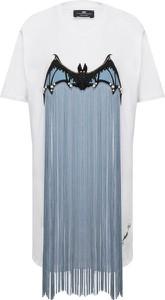 Sukienka Elisabetta Franchi midi w stylu boho z okrągłym dekoltem