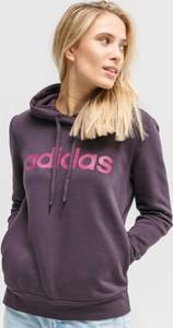 Fioletowa bluza Adidas krótka