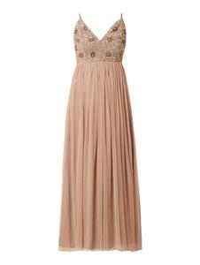 Sukienka Lace & Beads na ramiączkach maxi z tiulu