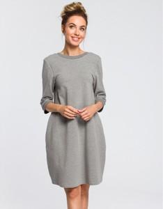 Sukienka MOE z długim rękawem z dresówki