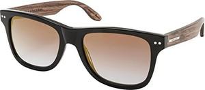 Brązowe okulary damskie Wood Fellas