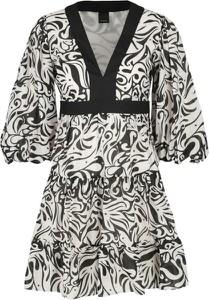 Sukienka Pinko mini z długim rękawem w stylu casual