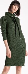 Zielona sukienka Monnari z dresówki z długim rękawem mini