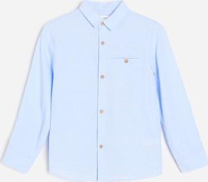 Niebieska koszula dziecięca Reserved dla chłopców z bawełny