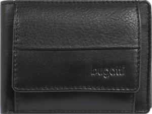 76df5f30601a0 Czarny portfel męski Bugatti ze skóry na karty kredytowe