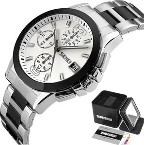 Zegarek męski SKMEI 9126 bransoleta SREBRNY