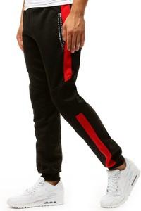Czarne spodnie sportowe Dstreet w sportowym stylu z dresówki