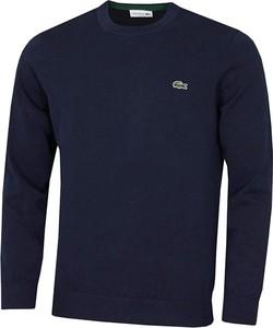 Granatowy sweter Lacoste w stylu casual