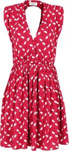 Czerwona sukienka Liu-Jo bez rękawów
