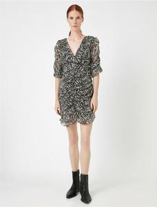 Sukienka Koton mini w stylu casual z dekoltem w kształcie litery v