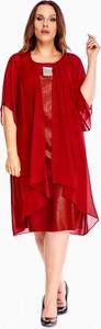 Sukienka Krystyna Wiśniewska z długim rękawem