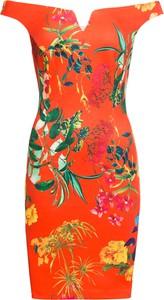 Sukienka bonprix BODYFLIRT boutique z dekoltem w kształcie litery v bez rękawów midi
