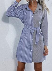 Sukienka Cikelly z kołnierzykiem w stylu casual mini
