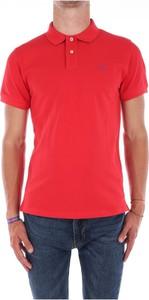 Czerwony t-shirt Gant w stylu casual z tkaniny