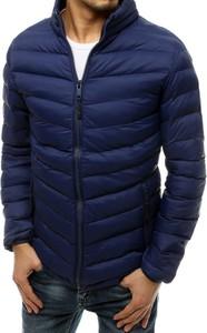 Granatowa kurtka Dstreet w stylu casual krótka