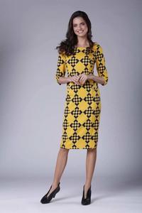 Sukienka Nommo ołówkowa z długim rękawem w stylu casual