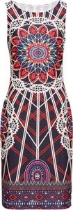 Sukienka bonprix BODYFLIRT boutique bez rękawów mini z okrągłym dekoltem