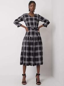 Czarna sukienka Sheandher.pl z bawełny w stylu casual z długim rękawem