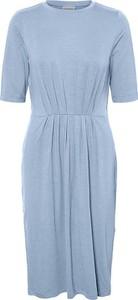 Niebieska sukienka Vero Moda z krótkim rękawem