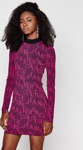 Sukienka Versace Jeans z długim rękawem mini