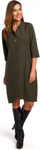 Zielona sukienka Style z długim rękawem