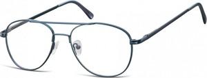 Stylion Okulary oprawki dziecięce zerówki Pilotki MK3-44C ciemno-niebieskie