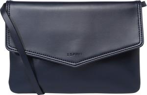 Granatowa torebka Esprit na ramię ze skóry w sportowym stylu