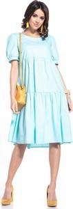 Niebieska sukienka Tessita midi