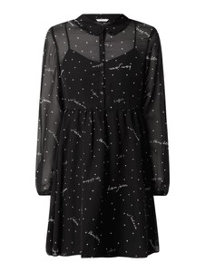 Czarna sukienka Only w stylu casual mini z długim rękawem