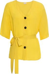 Żółta bluzka bonprix BODYFLIRT