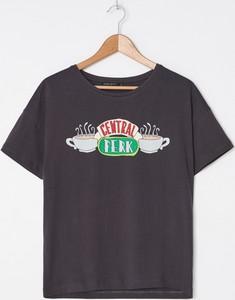 T-shirt House z krótkim rękawem w młodzieżowym stylu z okrągłym dekoltem
