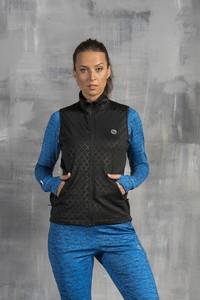 Czarna kamizelka Nessi Sportswear krótka w sportowym stylu