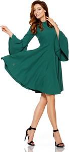 Sukienka Lemoniade mini z okrągłym dekoltem z długim rękawem