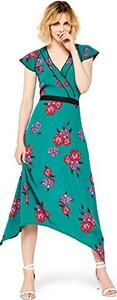 Błękitna sukienka Find z krótkim rękawem